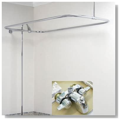New Add On Shower for Clawfoot Tub includes Rectangular Shower Rod