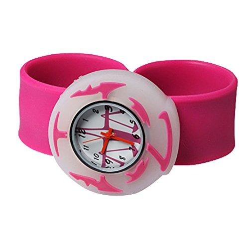Cute 12 Constellation Unisex Children Kid Sports Bendable Rubber Strap Wrist Watch (Libra)
