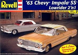 Amazon.com: #2176 Revell '63 Chevy Impala SS Lowrider 2'n 1 1/25 Scale