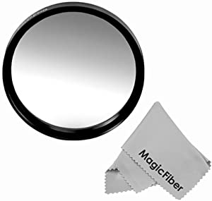 72MM Goja Graduated Gray Lens Color Filter (Neutral Density) + Premium MagicFiber Microfiber Cleaning Cloth