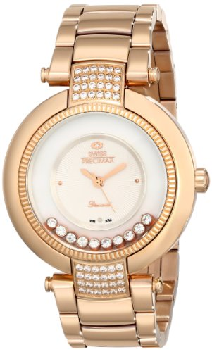 Swiss Precimax Women's Allure SP13353 Rose-Gold Stainless-Steel Swiss Quartz Watch with Mother-Of-Pearl Dial