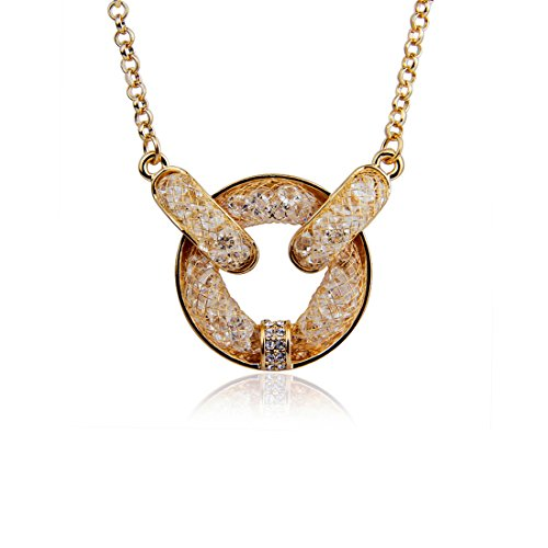 Bamoer 18K Rose Gold Plated Champagne With Zircon Crystal Necklace
