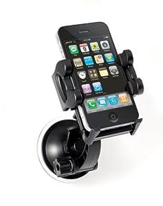 rutschfeste und wackelfeste KFZ Handy Halterung für Befestigung an Windschutzscheibe, Stütze mit Saugnapf Windschutzscheiben Befestigung, Auto, Halter für alle Handy-Modelle, perfekt für iPhone 3G 3GS 4 5S 5C, Samsung Galaxy S4 S2 S3, Nokia N8-00, HTC Desire HD, Sony Ericsson Xperia X10, RIM Blackberry Torch 9800, Samsung s5230 star, LG Handys ect., Marke: Incutex