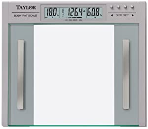 Taylor 5758f Body Fat and Body Water, Large Profile Scale, 440-Pounds