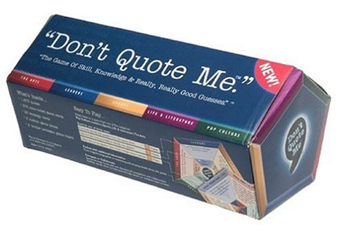 Don t Quote Me Board GameB00009X75L
