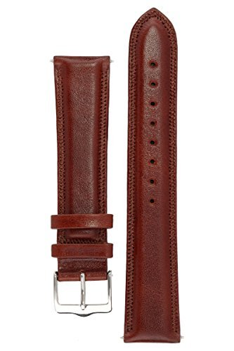 signature-favourite-in-wood-18-mm-watch-band-replacement-watch-strap-genuine-leather-silver-buckle