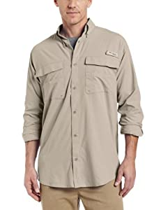 Columbia Blood and Guts Lightweight Long Sleeve Shirt (Large, Fossil)
