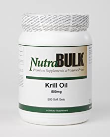buy Krill Oil Nutrabulk Softgels - Supports Heart + Brain + Joint Health - 100% Pharmaceutical Grade - 500 Mg Soft Gels - 1000 Soft Gels!
