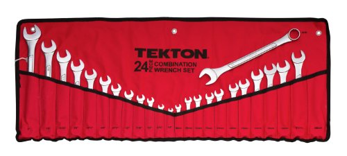 TEKTON 1916 Combination Wrench Set, Inch/Metric, 1/4-Inch - 1-Inch, 8 mm - 24 mm, 24-Piece [Older  Model] (Sae Angle Wrench compare prices)