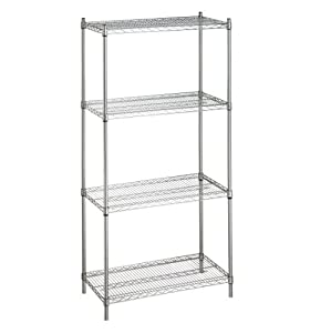 """Chrome Steel Wire Shelving Rack For Storage 74"""" High x 24"""" x 30"""" With 4 Shelves"""
