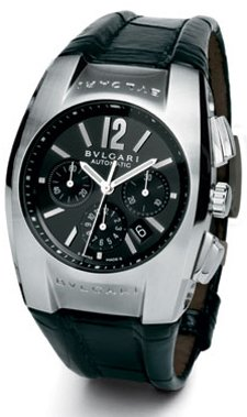 Bvlgari Ergon Black dial Chronograph Stainless Steel Mens Watch EG35BSLDCH