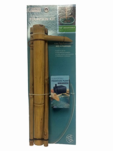 Bamboo accents adjustable water spout w pump large 18 home garden decor fountains ponds - Decorative water spouts ...