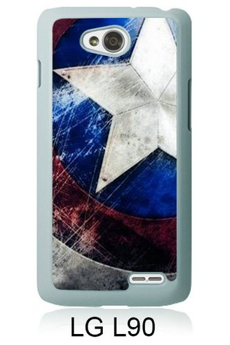 LG L90 Case,Captain America White Shell Phone Case for LG L90,Luxury Cover (Lg L90 Captain America Case compare prices)