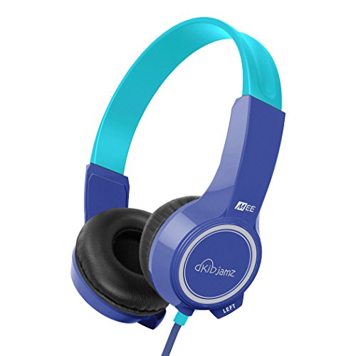 MEE audio KidJamz KJ25 Safe Listening Headphones for Kids with Volume-Limiting Technology (Blue)