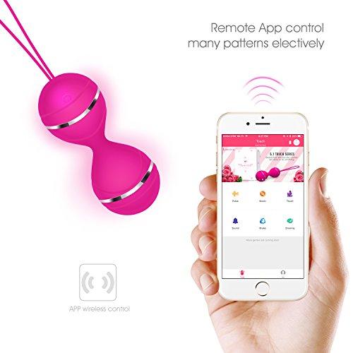 Louviva Uovo Vibrante Wireless,Uovo Sessuale, di Tecnilogia piu' Avanzata, Controllato da APP Cellulare, Si Disegna come vibrare da se stesso,100% Impermeabile