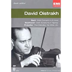 Collection Classic Archive : David Oïstrakh (Bach / Beethoven / Schubert / Brahms / Debussy / Prokofiev) - DVD