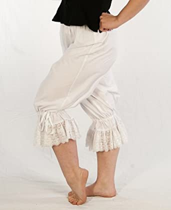 Dress Like a Pirate Womens Wench Renaissance Steampunk Cotton Bloomers $40.00 AT vintagedancer.com