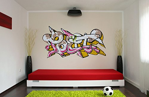 wandsticker graffiti poet gr e 140x71cm wanddekoration sticker wandtattoo. Black Bedroom Furniture Sets. Home Design Ideas