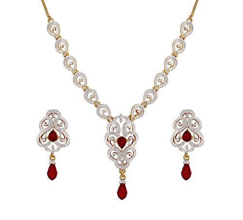 Sempre-Of-London-Ruby-Red-Imperial-Cz-Crystal-Diamonds-Pendant-Necklace-With-Earrings-For-Women