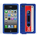 "Iprotect ORIGINAL RETRO STYLE HIGHCLASS KASSETTEN / KASSETTE SILIKON CASE Blau / Blue F�R DAS IPHONE 4von ""iprotect"""