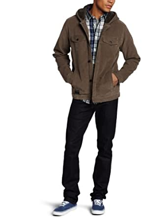 Quiksilver Men's Sable Jacket, Grey, Large