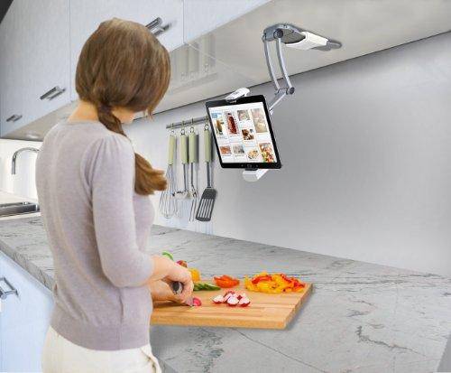 厨房利器,CTA Digital 2合1 平板电脑基座,适用于ipad等所有7~10寸平板图片