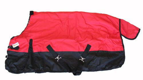 "600D Medium Weight Horse Pony Blanket Water Proof Red, 56"" front-809287"