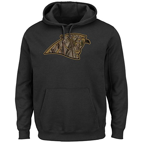 Carolina Panthers Majestic Salute to Service Camo Tek Hooded Sweatshirt (XL) (Salute To Service Panthers compare prices)