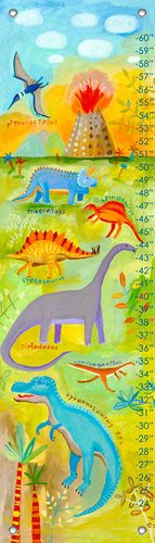 Oopsy Daisy Dino Scene by Donna Ingemanson Growth Charts, 12 by 42-Inch