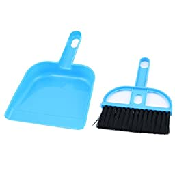 uxcell Keyboard Cleaner Air Outlet Vent Cleaning Brush Dustpan 4 Sets Blue