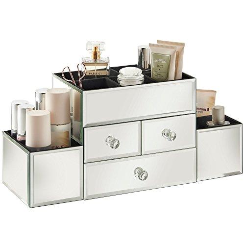 beautify-mirrored-glass-jewelry-box-cosmetic-organizer-3-drawers-9-sections-18-x-63-x-8