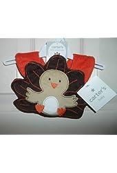 nwt-Carter's Baby Bib-One Size-Thanksgiving-Turkey-Shower Gift