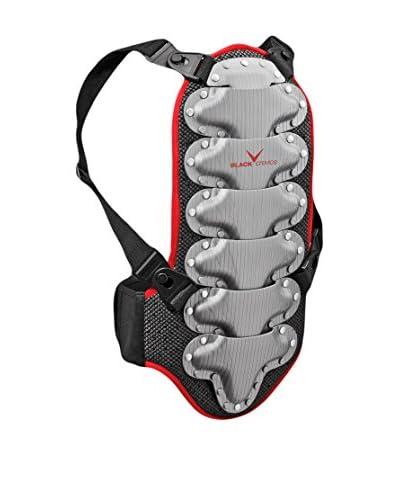 Black Crevice Protector Espalda Negro / Rojo / Plata M