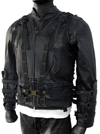 Dark Knight Rises Jacket Bane Vest Black with Sleeves M