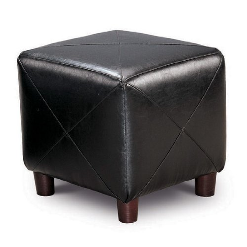 Accent Cube Black Foot Stool by Coaster Furniture