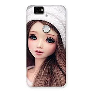 Cute Innocent Angel Doll Multicolor Back Case Cover for Google Nexus-6P