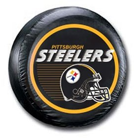 Pittsburgh Steelers Black Helmet Tire Cover (Steeler Tire Covers compare prices)