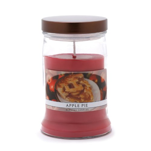 Homemade Apple Cinnamon Pie Scented Glass Jar Candle