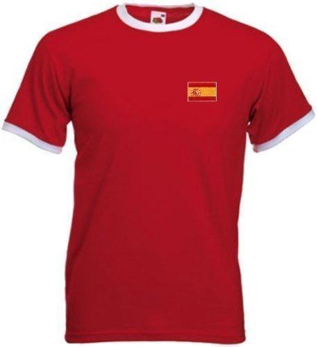 Spain Spanish Espana Retro Style Football Team National T-Shirt - Small