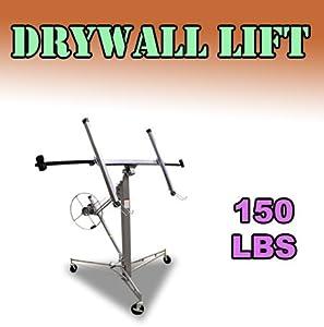 Commercial 11' 15' Silver Drywall Lift 150 Lbs Panel Sheetrock Lifter Jack Hoist