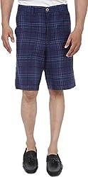 Reevolution Men's Cotton Shorts (MCHH510600_M, Blue, White, Medium)