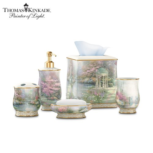 Bath tissue best pirces thomas kinkade bath accessories for Bathroom accessories collection