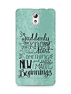 AMEZ start something new and the magic begins Back Cover For Lenovo Vibe P1M