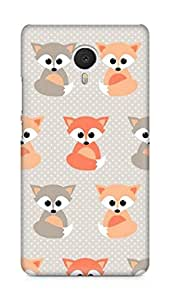 Amez designer printed 3d premium high quality back case cover for Meizu M3 Note (fox collage)