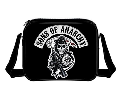 Sons Of Anarchy Reaper logo ufficiale SAMCRO Nero Messenger Bag