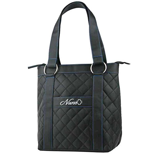 Deluxe Plush Quilted Nurse Tote Bag