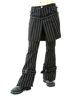 Aderlass Skirt Pants Pin Stripe Black-White (Größe 40)