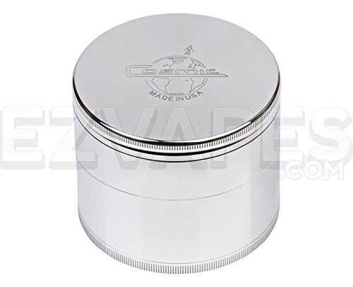 Cosmic Case 4 Piece Aluminum Herb Grinder Extra Large 88mm (Grinder Cosmic compare prices)