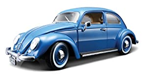 Bburago Diecast Model - VW Kafer Beetle Blue Car (1955) - 1:18 Scale - 12029