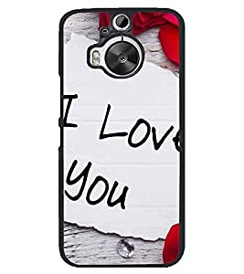 Printvisa I Love You With Rose Petals Back Case Cover for HTC One M9+::HTC One M9 Plus